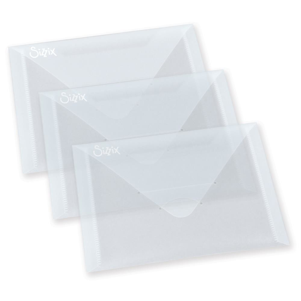 """Sizzix 6 7/8""""X5"""" Storage Envelopes 3/Pkg"""
