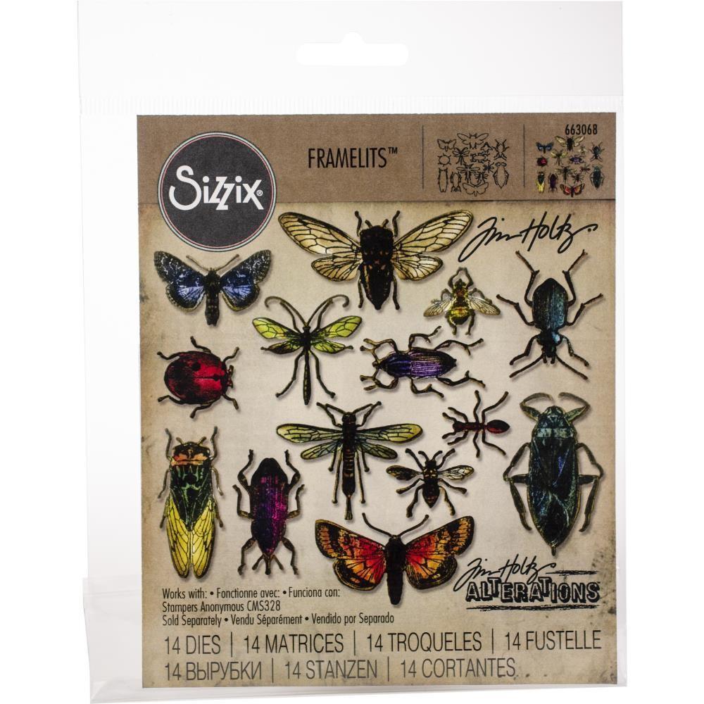 Tim Holtz Sizzix Framelits Entomology