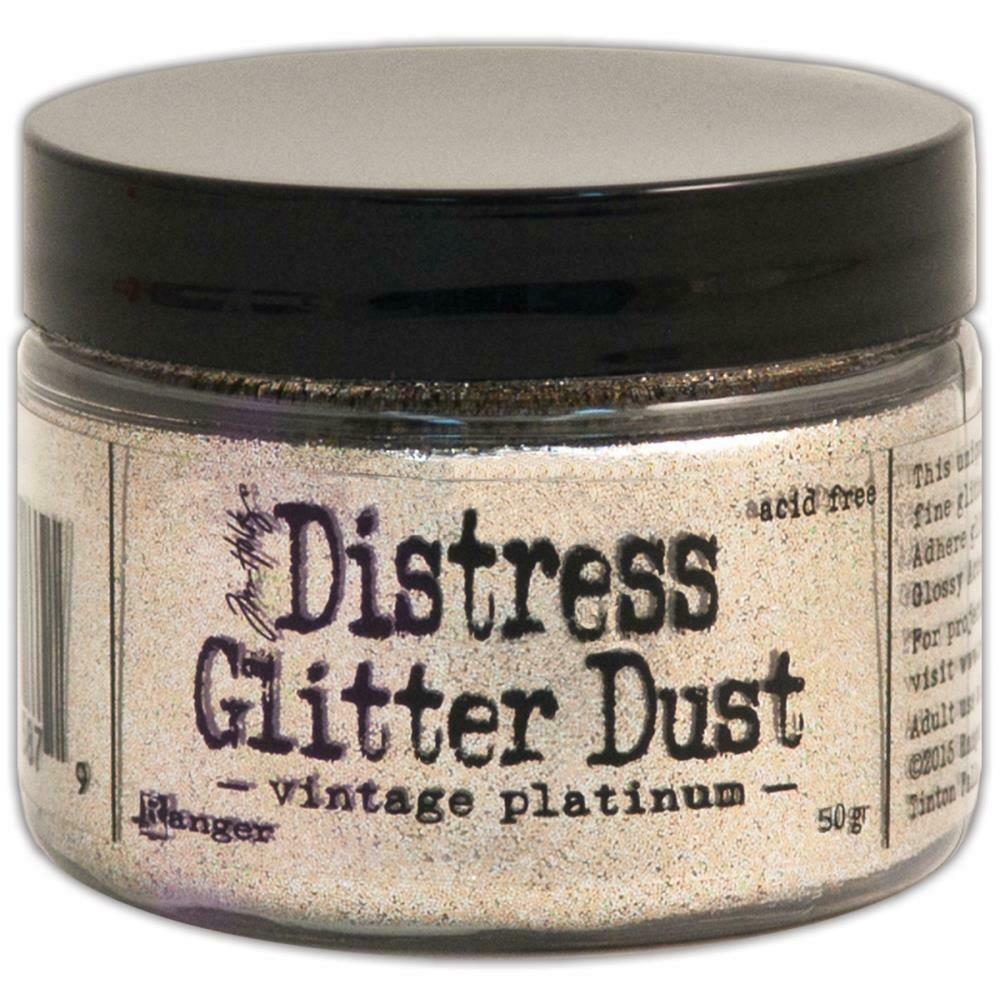 Tim Holtz Distress Glitter Vintage Platinum
