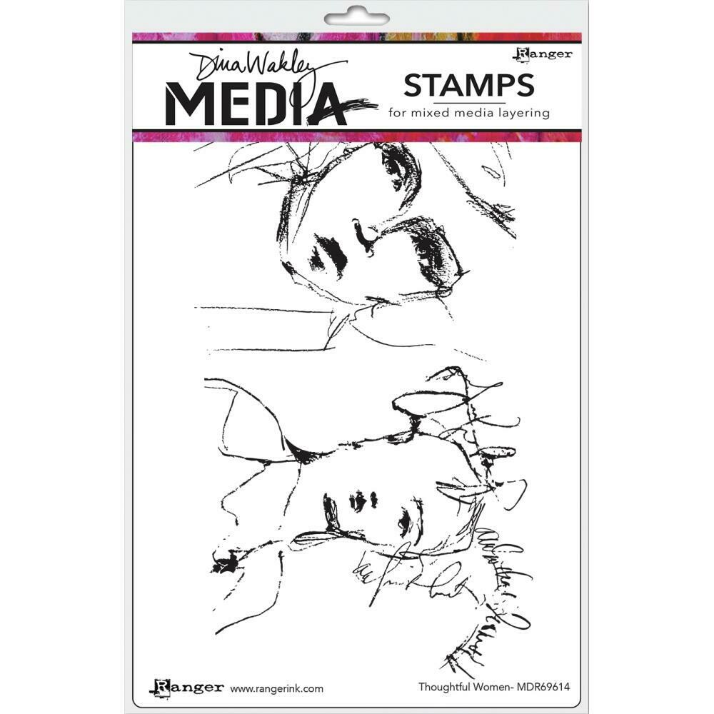 Dina Wakley Media Cling Stamps Thoughtful Women