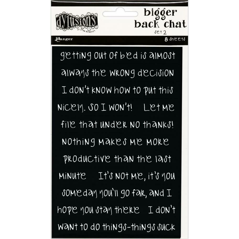 Dyan Reaveley's Dylusions Bigger Back Chat Stickers Black Set #2