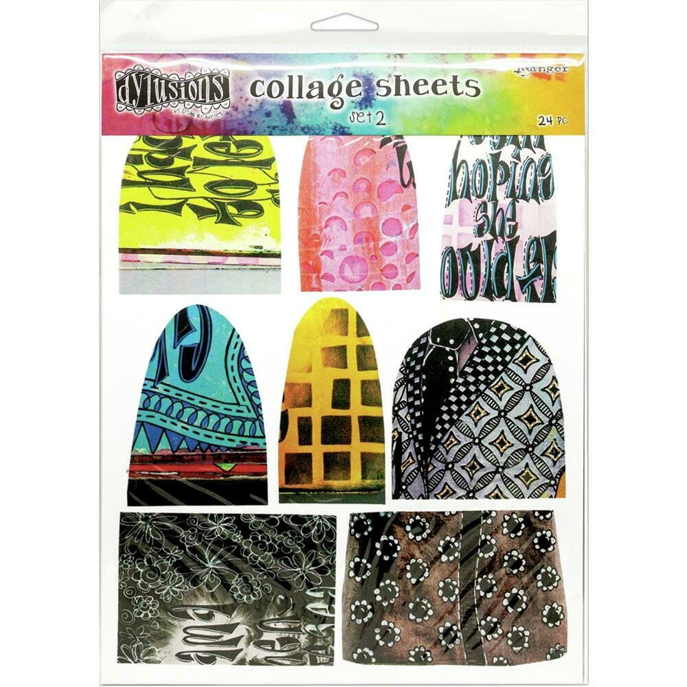 "Dyan Reaveley's Dylusions Collage Sheets 8.5""X11"" Set 2"
