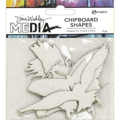 Dina Wakley Media Chipboard Shapes Flying