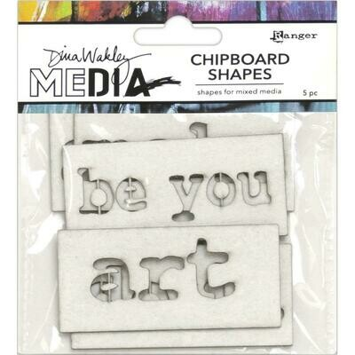Dina Wakley Media Chipboard Shapes Words