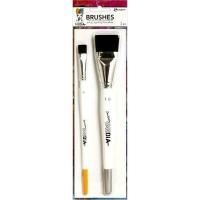 Dina Wakley Media Stiff Bristle Brushes 1.5
