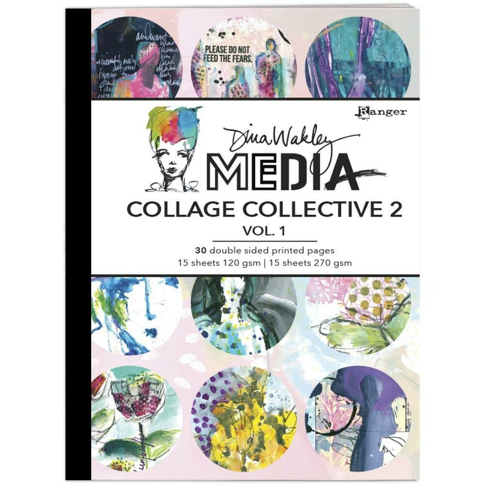 Dina Wakley Media Mixed Media Collage Collective 2 Vol 1
