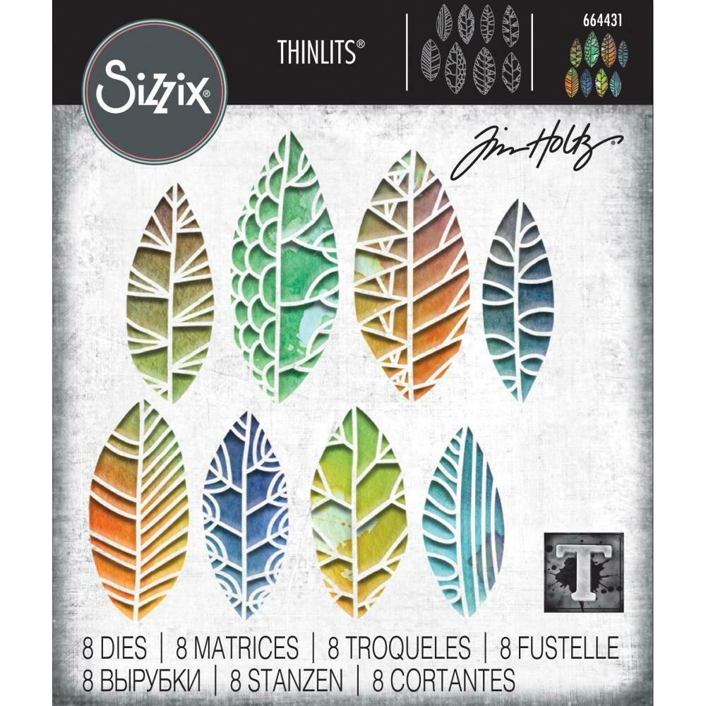 Tim Holtz Sizzix Thinlits Dies Cut-Out Leaves