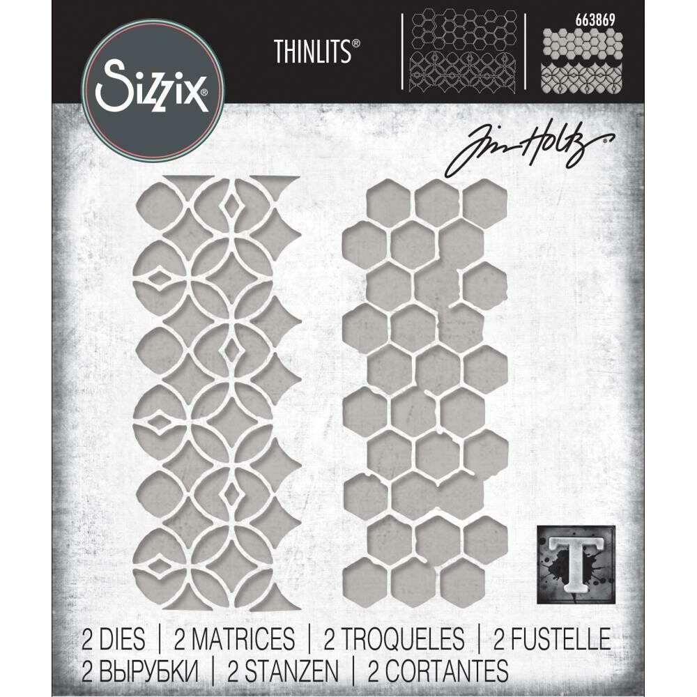 Tim Holtz Sizzix Thinlits Dies Pattern Repeat