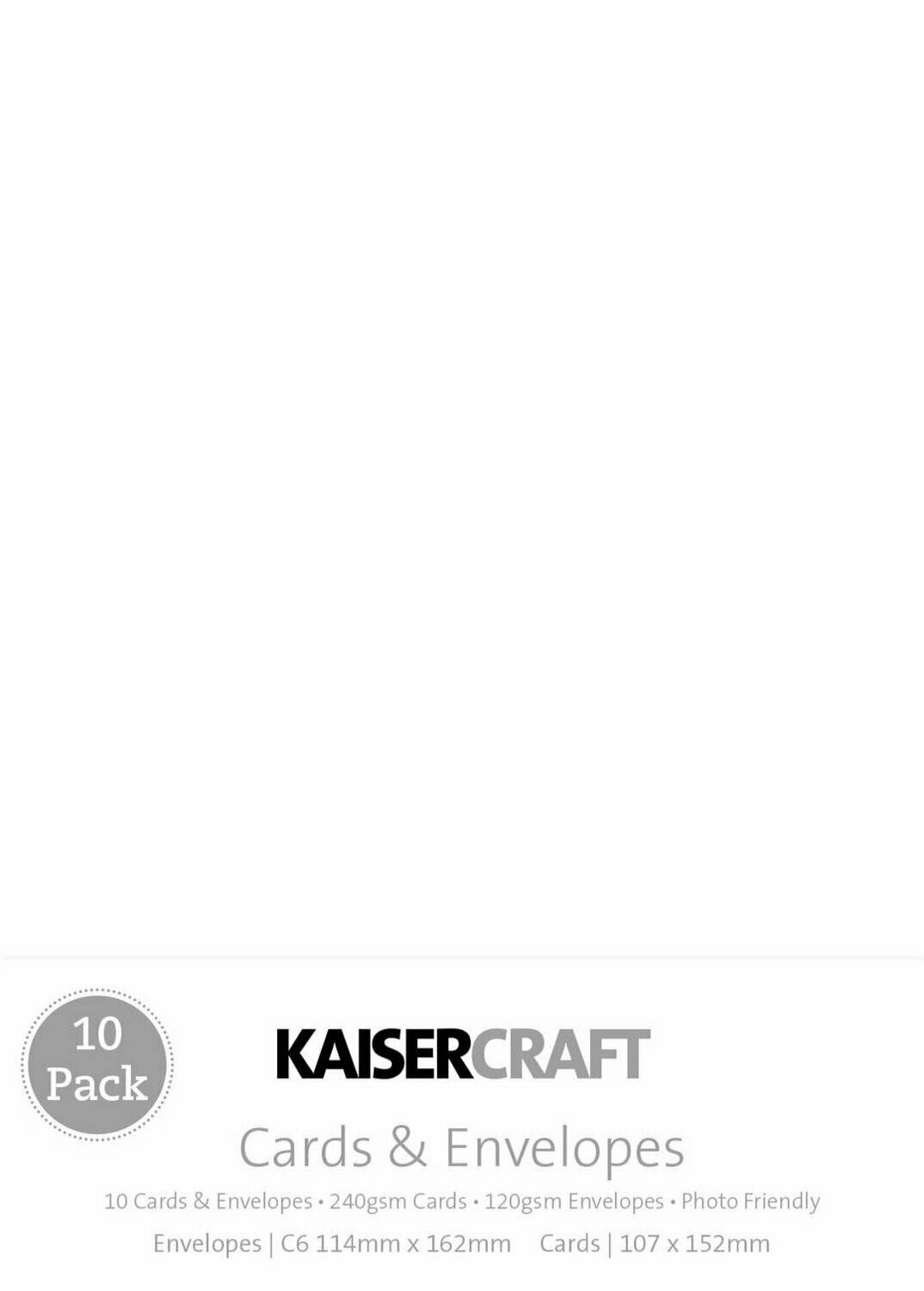 Kaisercraft Card Pack White