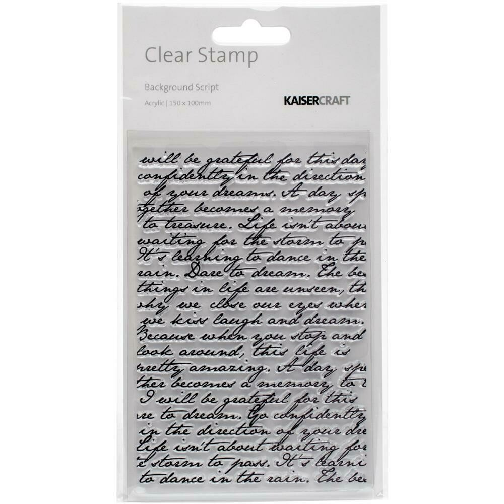 """Kaisercraft Story Book Clear Background Stamp 4""""X6"""""""