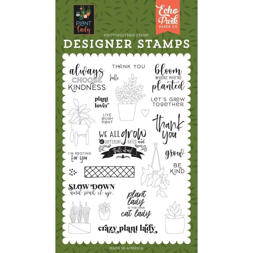 Echo Park Designer Stamps Plant Lover