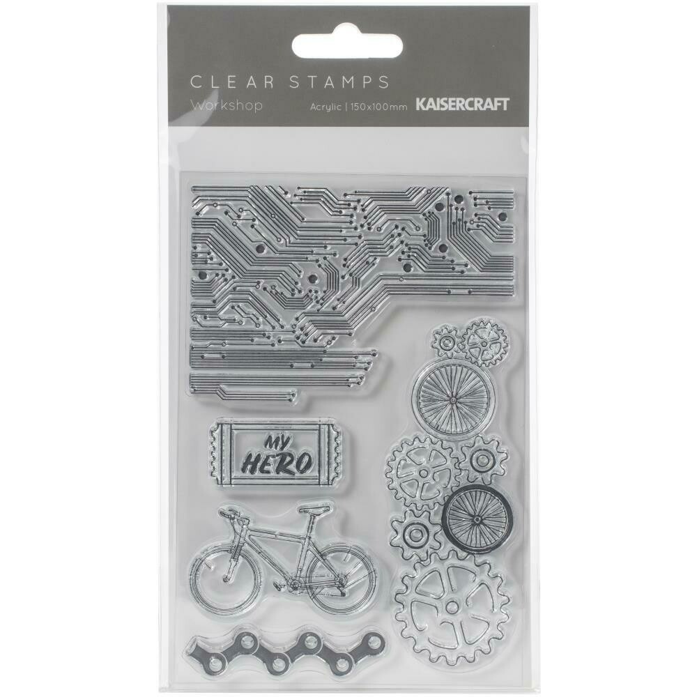 "Kaisercraft Clear Stamp 6""X4"" Workshop"