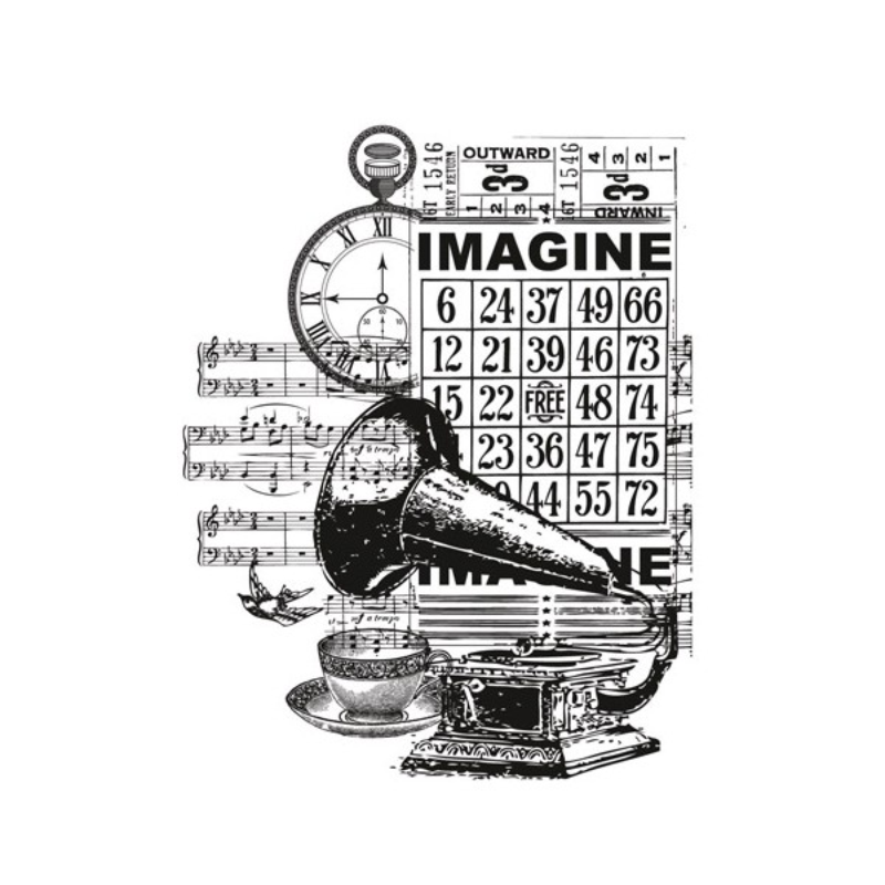 "Kaisercraft Vintage Clear Stamps 4""X2.75"" Imagine"