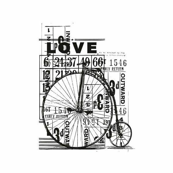 """Kaisercraft Vintage Clear Stamps 4""""X2.75"""" Love"""
