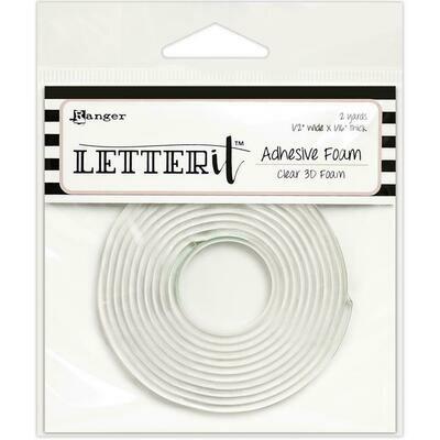 Ranger Letter It Adhesive Foam 3D Clear