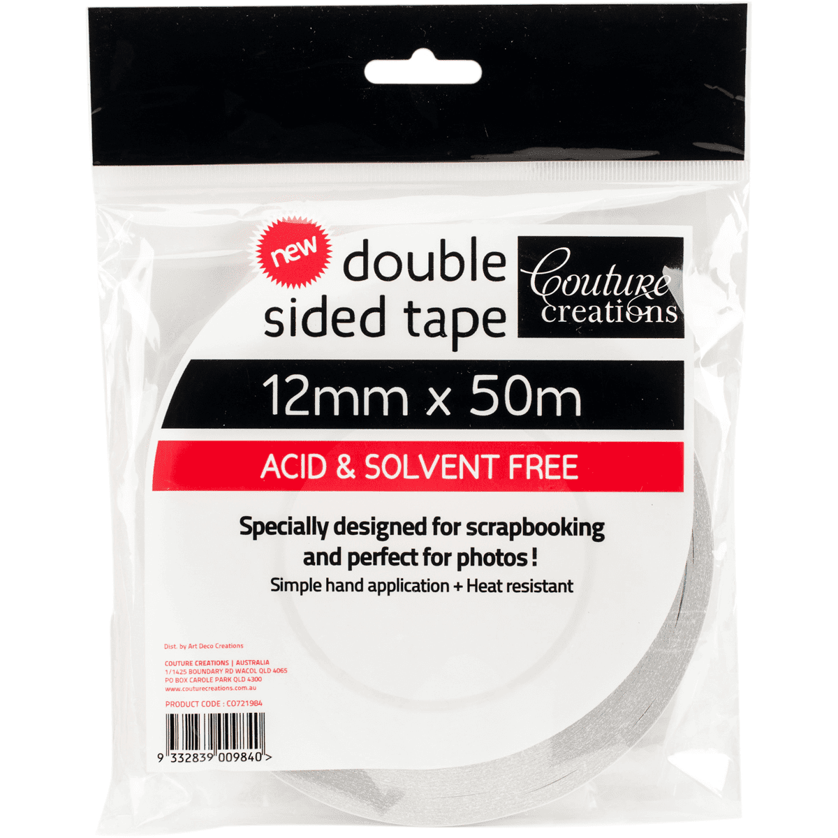 Couture Creations double sided tape 12mm