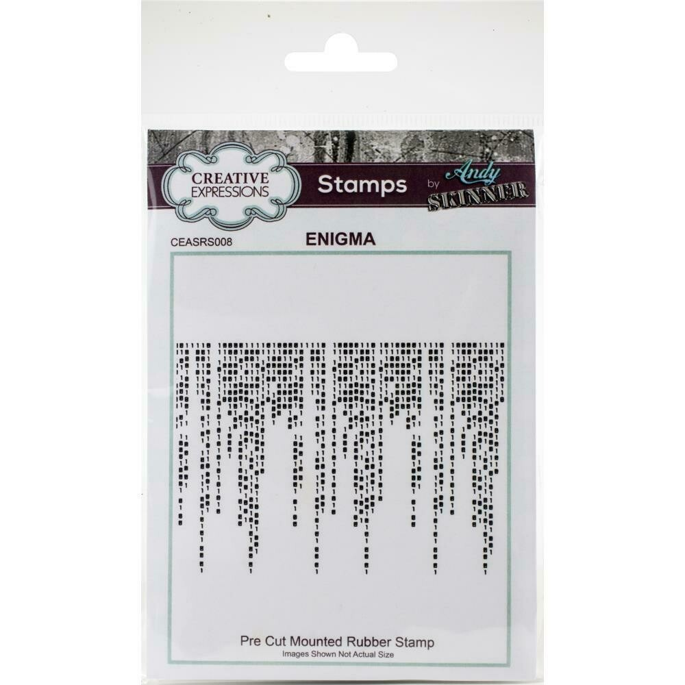 Creative Expressions Rubber Stamp By Andy Skinner Enigma