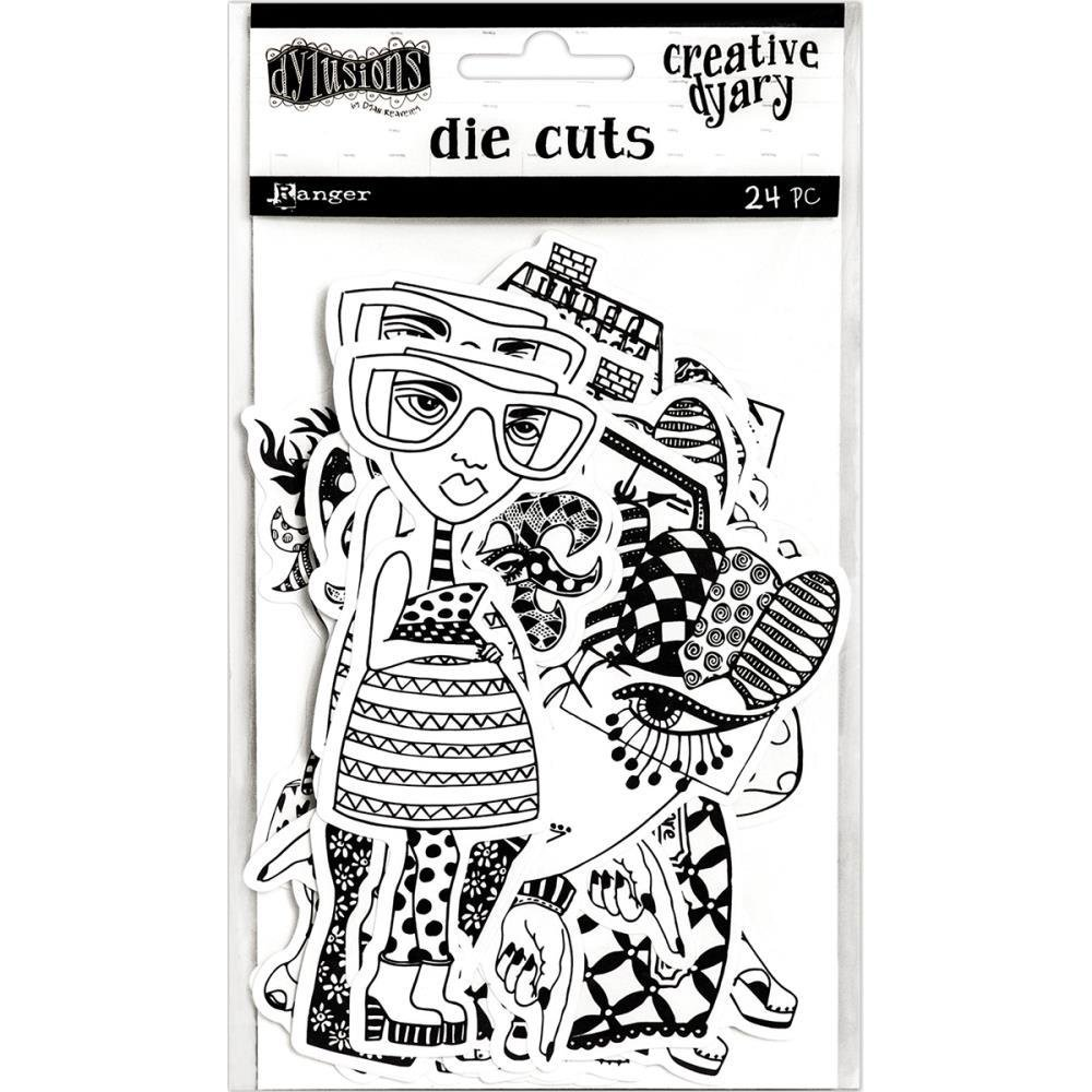 Dylusions Creative Dyary Die Cuts