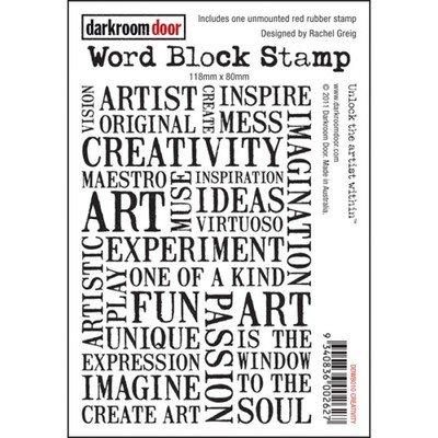 Darkroom Door Word Block Stamp