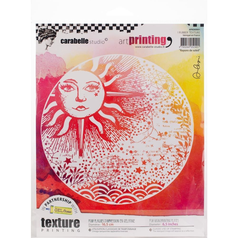 Carabelle Studio Art Printing Round Rubber Texture Plate