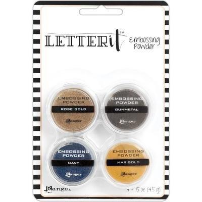 Ranger Letter It Embossing Powder Set Metallics