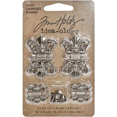 Tim Holtz Idea-Ology Metal Hinges W/Brads