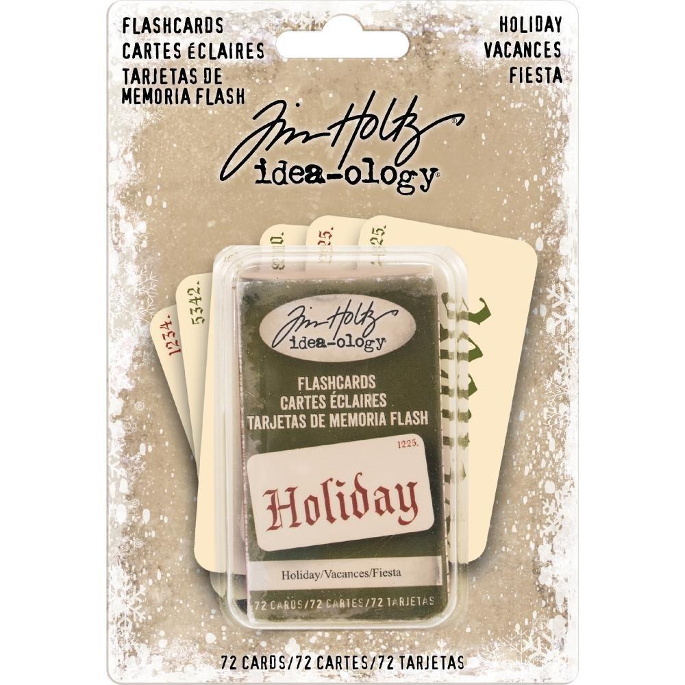 Tim Holtz Idea-Ology Double-Sided Flashcards Holiday