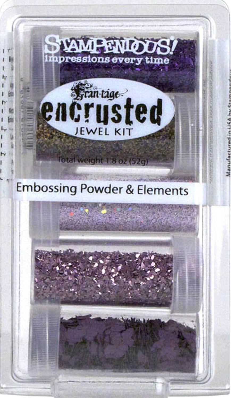 Stampendous Encrusted Jewel Embossing Powder & Elements Purple