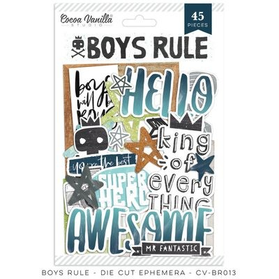 Cocoa Vanilla Boys Rule Die Cut Ephemera