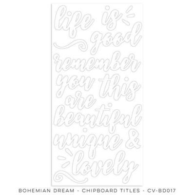 Cocoa Vanilla Bohemian Dream Chipboard Titles