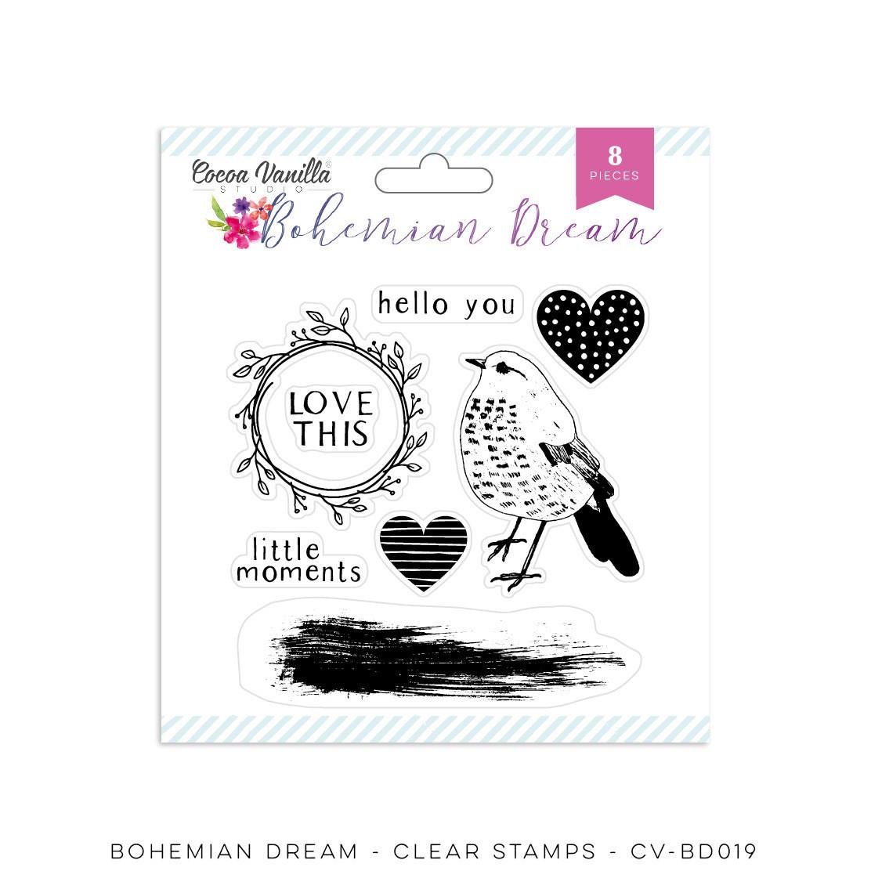 Cocoa Vanilla Bohemian Dream Clear Stamps