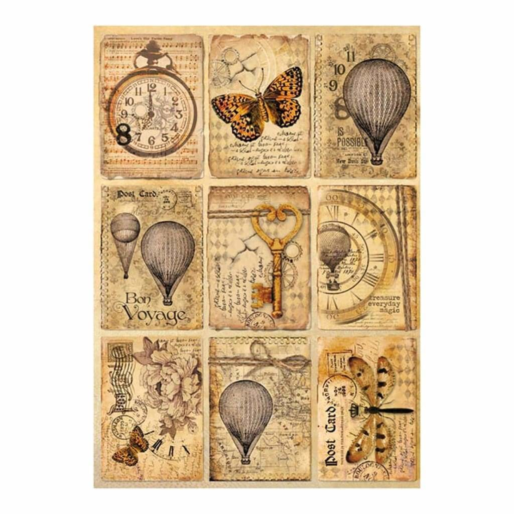 Stamperia Rice Paper Pack A4 Mixed Media Postcards