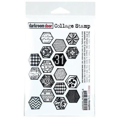 Darkroom Door Collage Cling Stamp 4.5