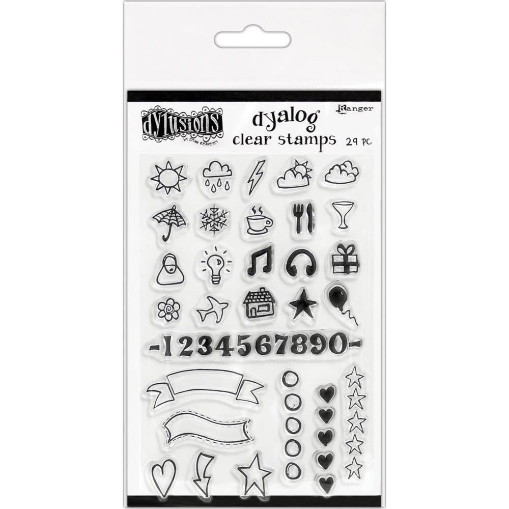 """Dylusions Clear Stamps 4""""X8"""" The Full Package"""