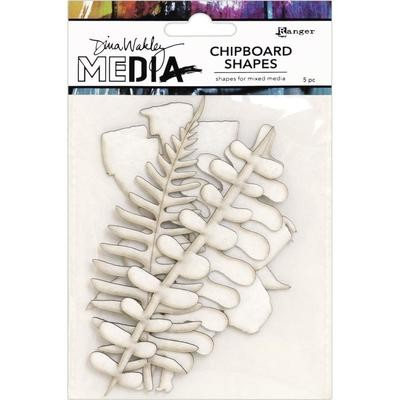 Dina Wakley Media Chipboard Shapes Botanicals