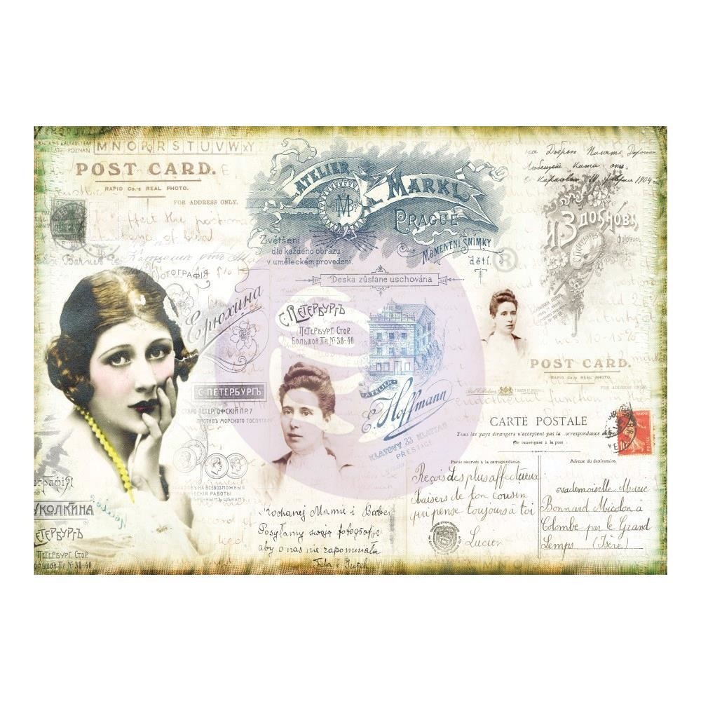 Finnabair Mixed Media Tissue Paper Carte Postale