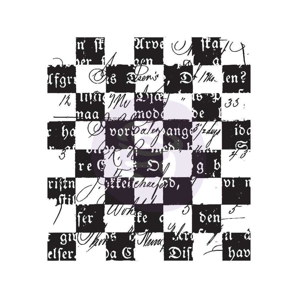 "Finnabair Clear Stamp 2.5""X2.5"" Checker Texts"