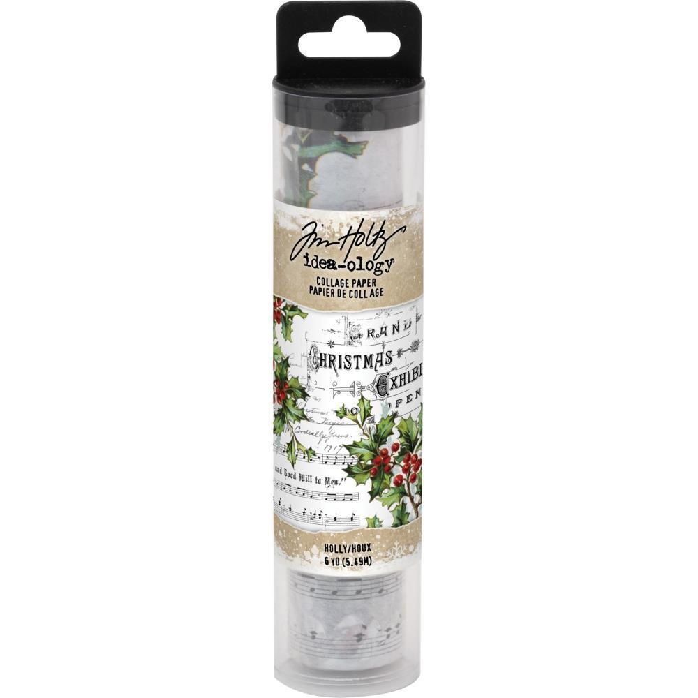 Tim Holtz Idea-Ology Collage Paper Holly