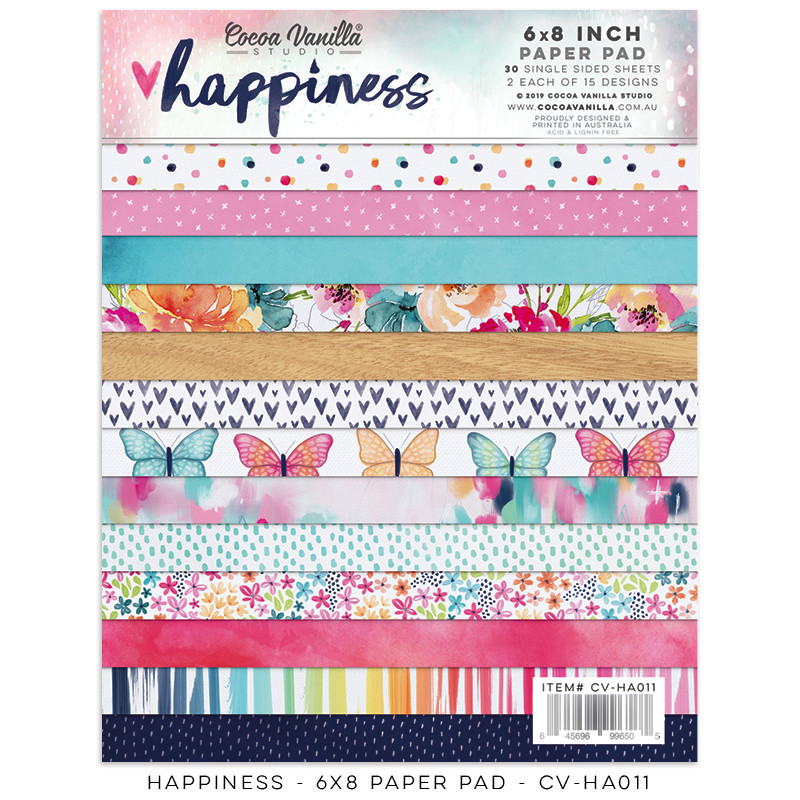 "Cocoa Vanilla Happiness 6""x8"" Paper Pad"