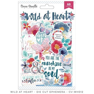 Cocoa Vanilla Wild At Heart Die Cut Ephemera