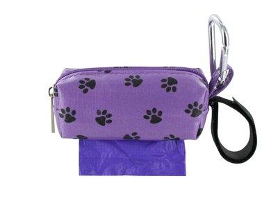 Purple w/ Black Paws Duffel