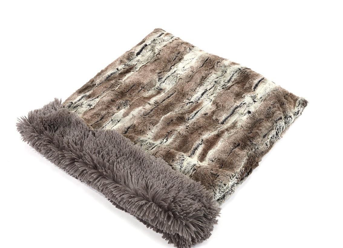 Mountain Fox & Grey Shag Cuddle Pouch