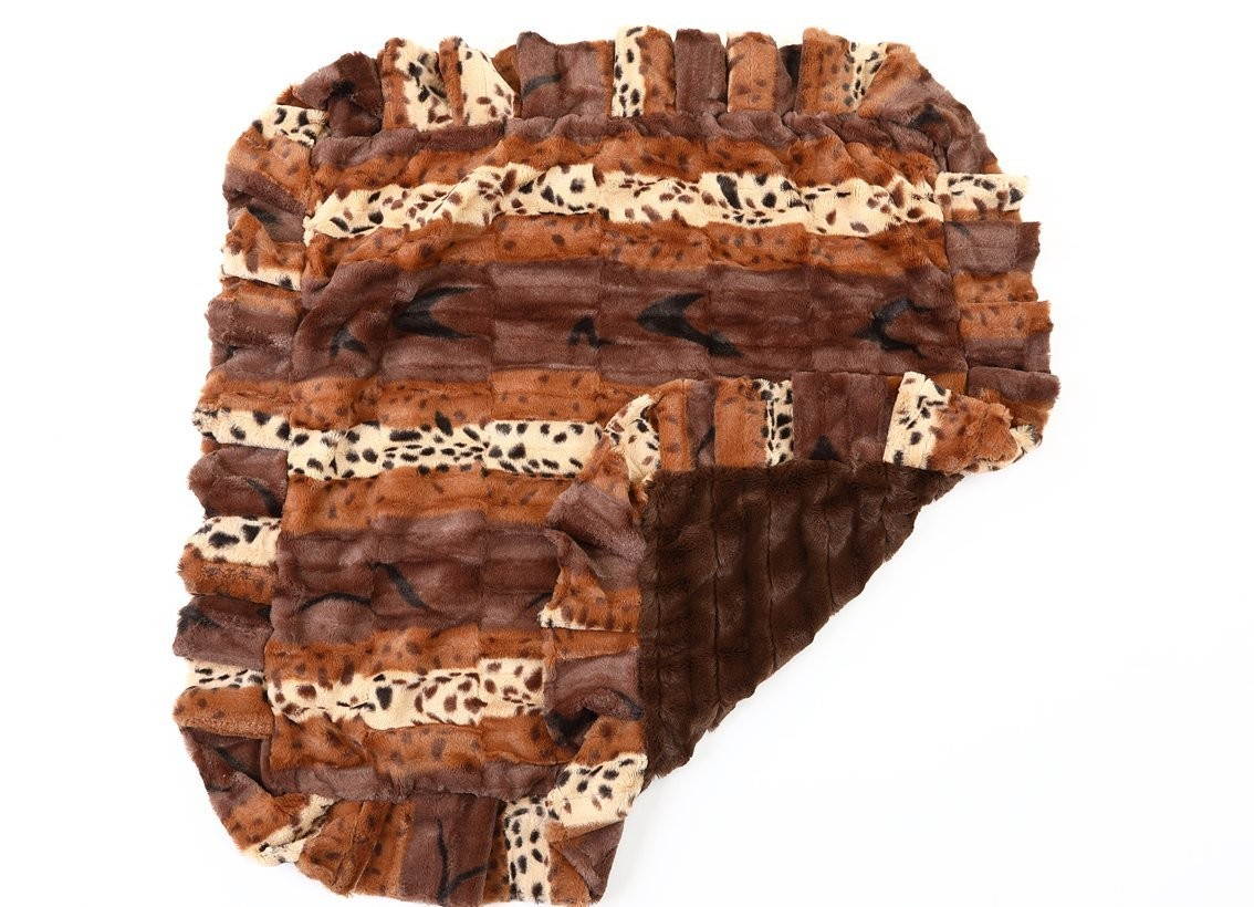 Exotic Chocolate and Mink Blanket