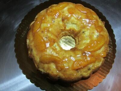 Maple Bourbon Pecan Peach Bunt Cake