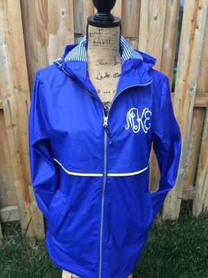 Ladies Charles River New Englander Rain Jacket - Royal