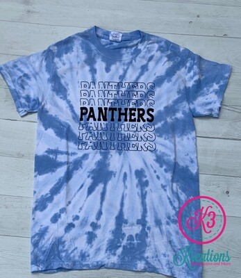Stacked Panther Tie Dye T-shirt