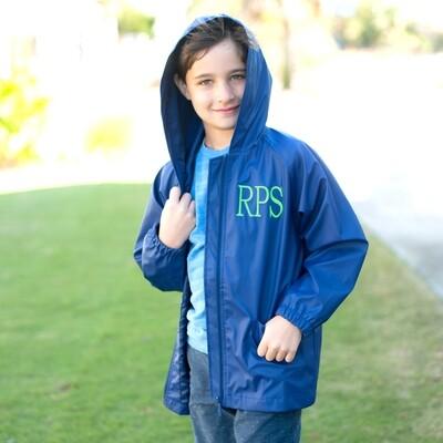 Navy Kids' Rain Jacket