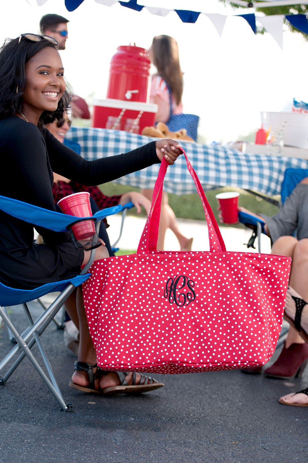 Red Scattered Dot Ultimate Tote