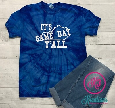 Colortone It's Game Day Y'All Short Sleeve Tie Dye T-shirt