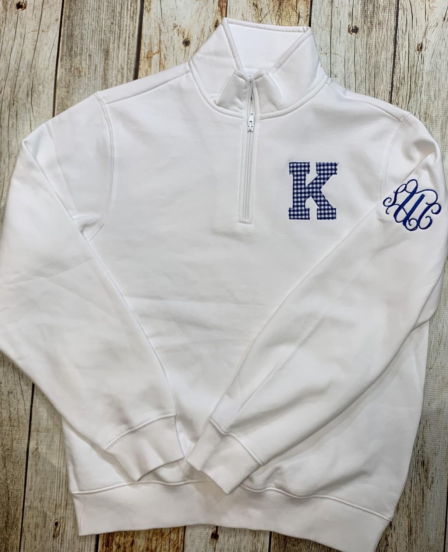 """""""K"""" 1/4-Zip Sweatshirt"""